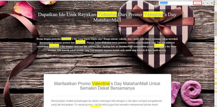 Tampilan Landing Page Lama MatahariMall.com